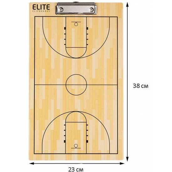 Доска тренерская баскетбольная тактическая Elite Basketball Coaching Board 23х38 см