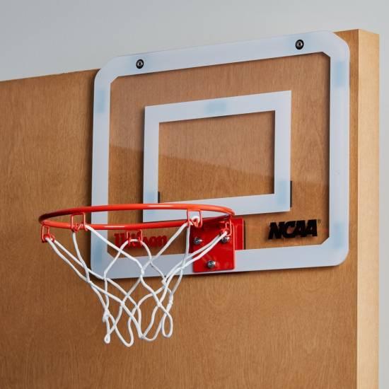 Баскетбольный мини-щит Wilson NCAA Showcase Mini Hoop 38х28 см c кольцом и сеткой (WTBA00219)