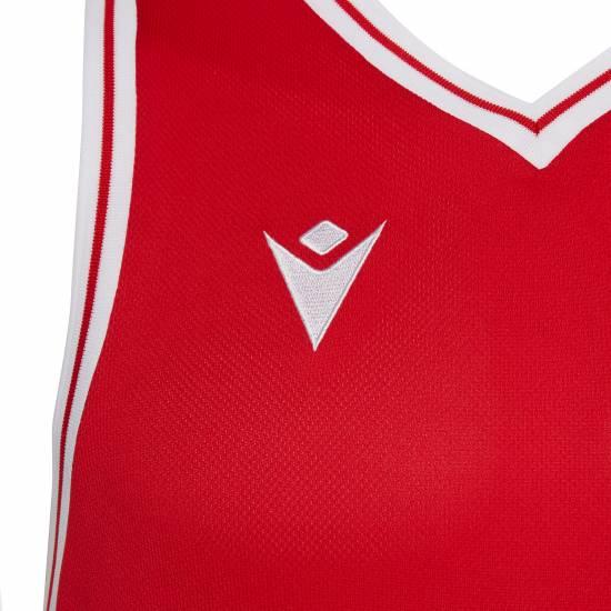 Майка баскетбольная игровая MACRON FREON SHIRT размер М красный (4027)