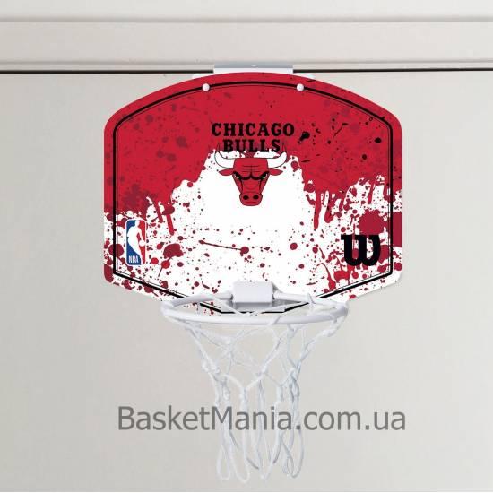 Мини-щит баскетбольный Wilson NBA Team Mini Hoop Chicago Bulls (WTBA1302CHI)