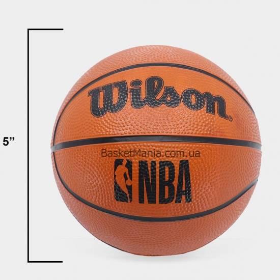 Мини-щит баскетбольный Wilson NBA Forge Team Mini Hoop 45,7х27,9 см с кольцом и сеткой (WTBA3001FRGNB)